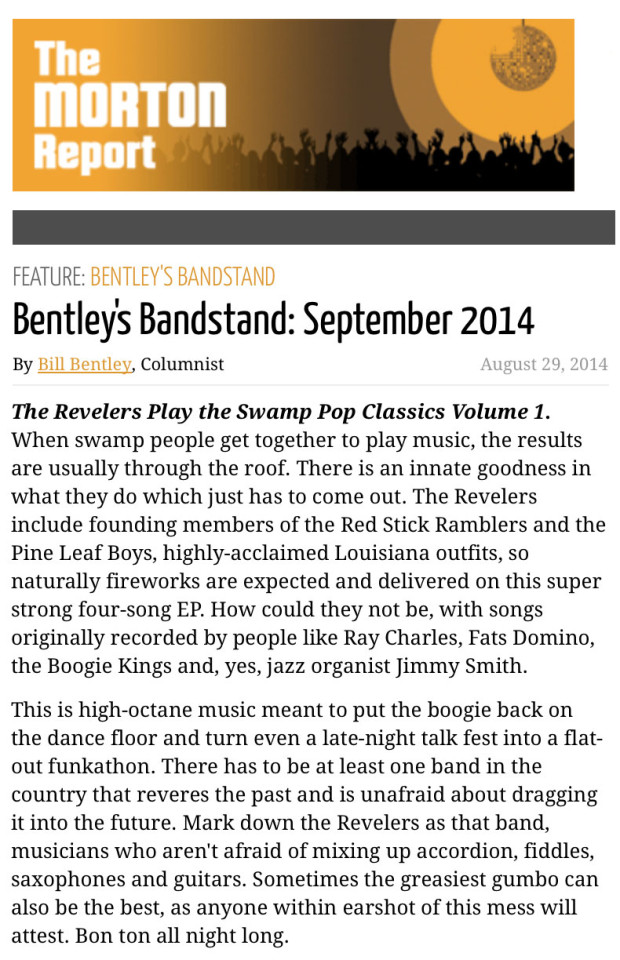 Bentleys-Bandstand-Review